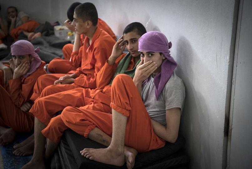 5 bin IŞİD militanının tutulduğu hapishaneden fotoğraflar 2