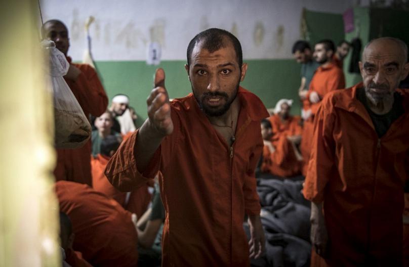 5 bin IŞİD militanının tutulduğu hapishaneden fotoğraflar 4