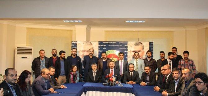 Amed Barosu'ndan demokrasiye ve hukuka dönüş çağrısı