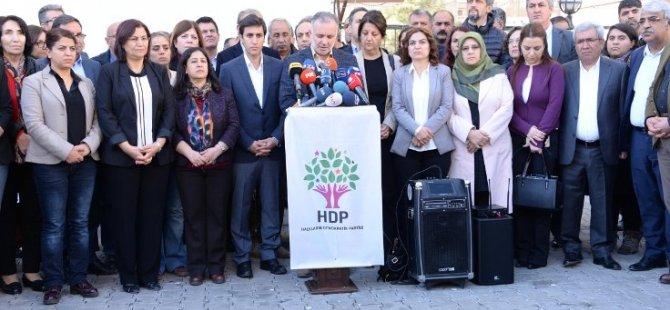 """HDP:""""Yasama organındaki çalışmalarını durdurmaya karar verdi"""""""
