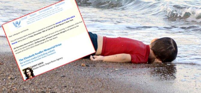 Alan Kurdi Türk gazeteciye ödül kazandırti!
