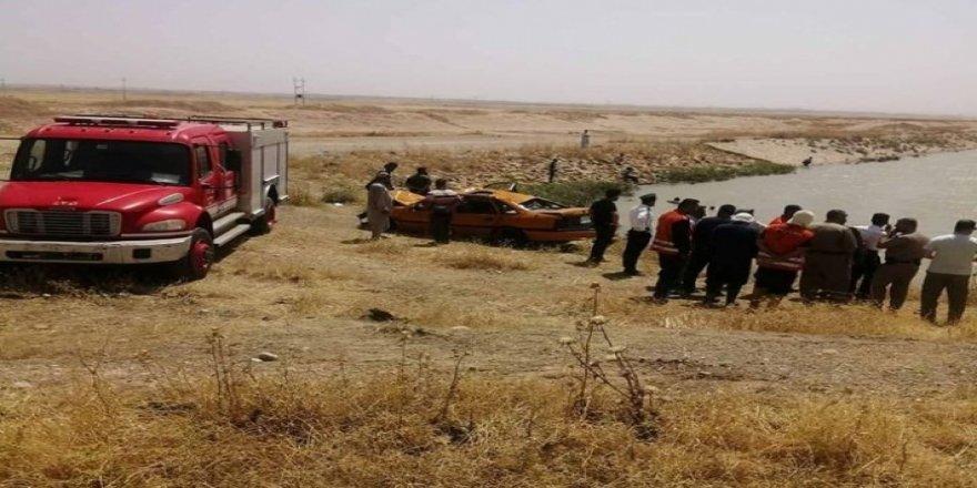 Dakuk Çayı'na düşen otomobildeki 4 çocuk akıntıya kapıldı