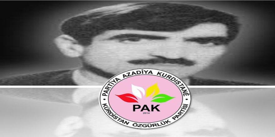 PAK: Yurtsever Kürt Lideri Sait Elçi ve Arkadaşlarını Saygıyla Anıyoruz