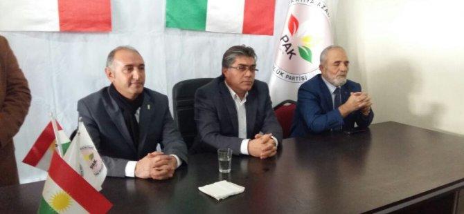 ''PAK, Kuzey Kürdistan siyasetine yeni bir ruh ve çehre kazandırmıştır''