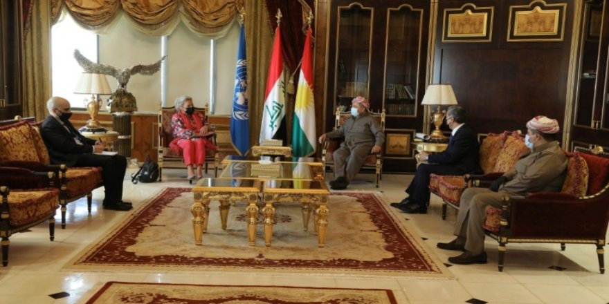 Başkan Barzani ve BM Temsilcisi Irak seçimlerini görüştü