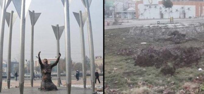 Diyarbekir: Kayyım Roboski Anıtı'nı yıktı