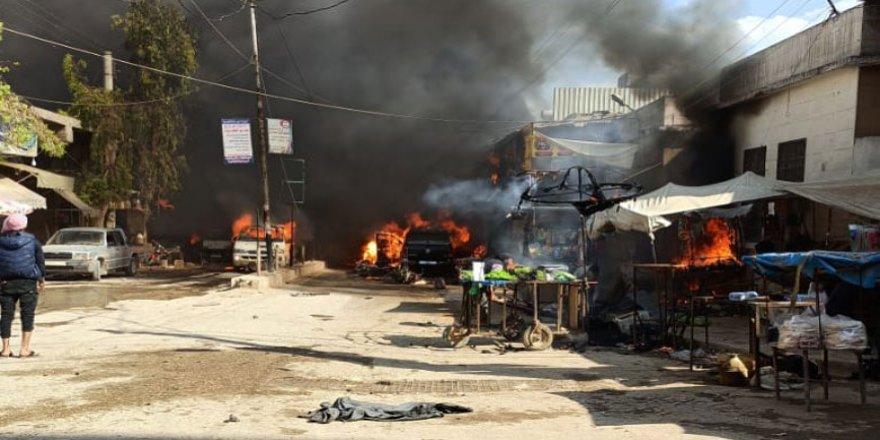 Efrin'de bomba yüklü araç patladı