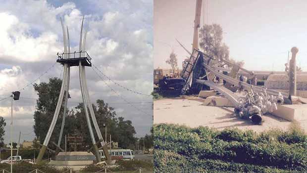 Kerkük'te 'Arap Sembolü' Dört Kılıç heykeli yıkıldı
