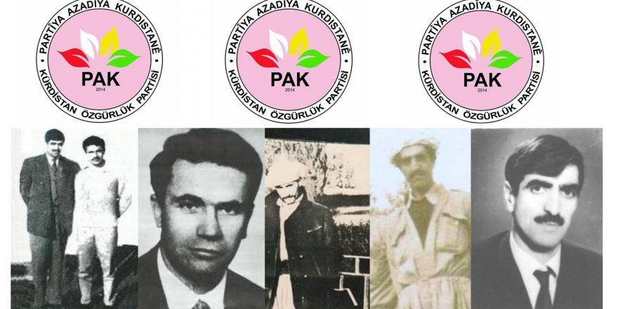PAK: Dr. Şıvan (Sait Kırmızıtoprak), Sait Elçi ve Arkadaşlarını Saygıyla Anıyoruz