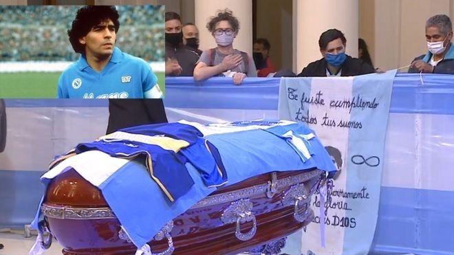 Maradona son yolculuğuna uğurlandı