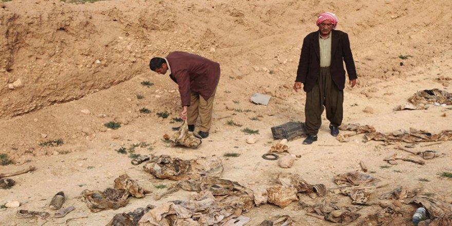 Şengal'de toplu mezardan çıkarılan 104 Ezdi'nin cenazesi defnedildi