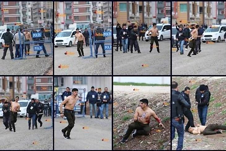 Diyarbekır'daki gencin kare kare vurulma anı