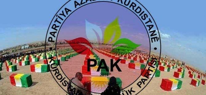 """PAK: """"Enfal Şehitlerine Kürdistan'ın bağımsızlığı müjdesini verelim!"""""""