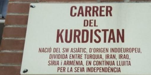 Katalonya'da bir caddeye Kürdistan adı verildi