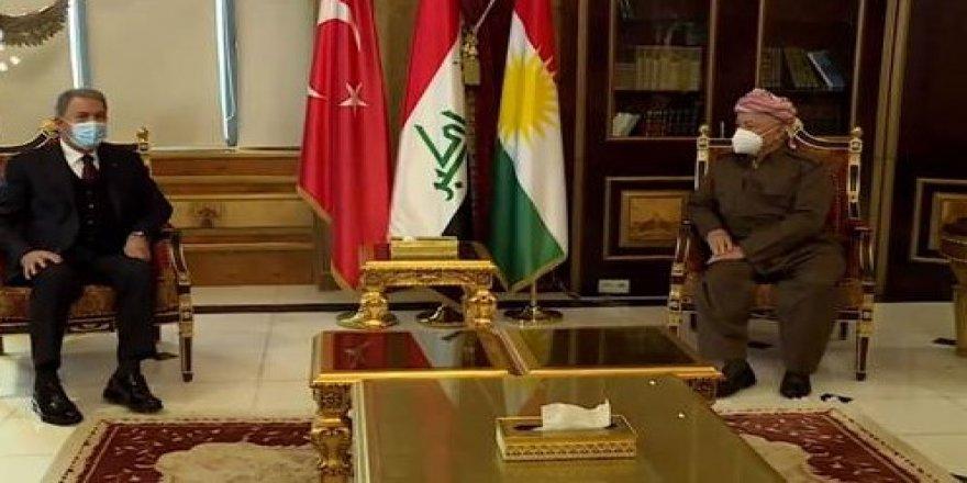 Başkan Barzani, Hulusi Akar ile görüştü