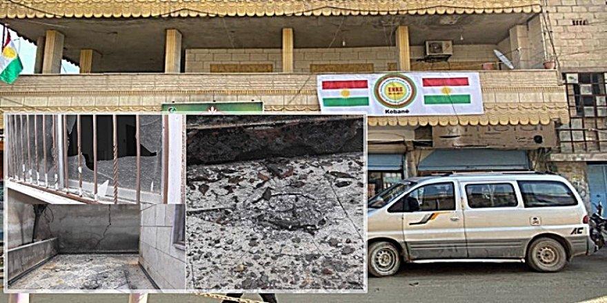 ENKS'nin Kobanê'deki ofisine silahlı ve bombalı saldırı
