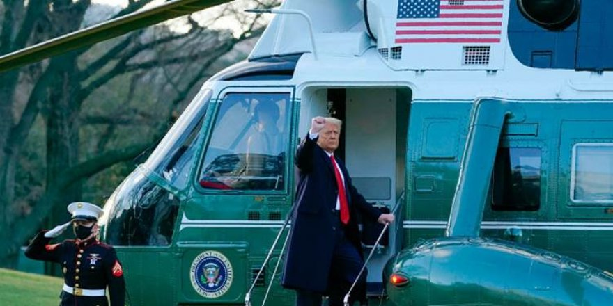 Trump, Beyaz Saray'a veda etti!