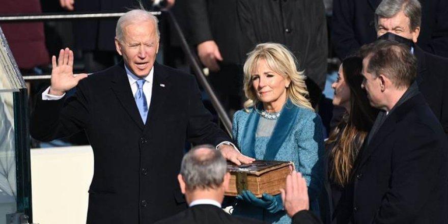 Joe Biden yemin ederek başkanlık görevini devraldı
