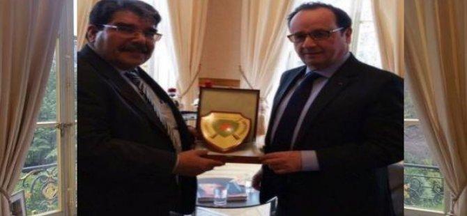 PYD EşBaşkanı Fransa Cumhurbaşkanı ile  görüştü