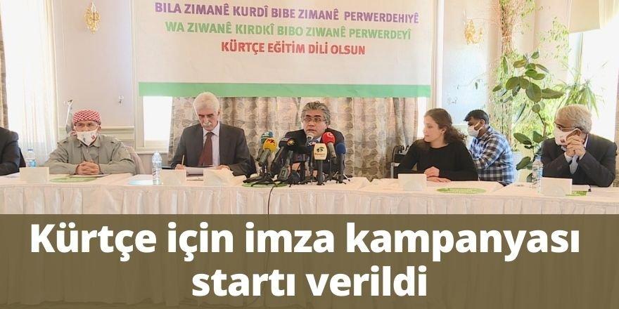 Kürtçe için imza kampanyası startı verildi
