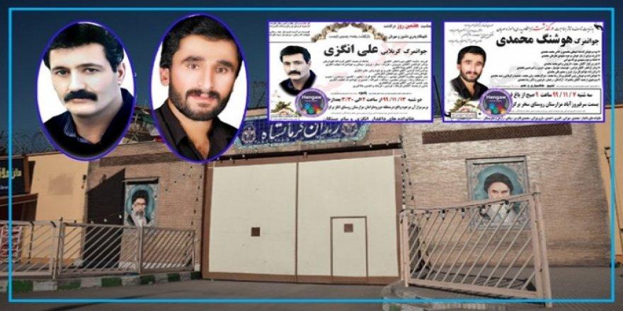 İran 3 Kürt tutukluyu gizli bir şekilde astı
