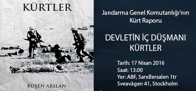 seminer: 'Devletin Iç Düşmanı Kürtler'