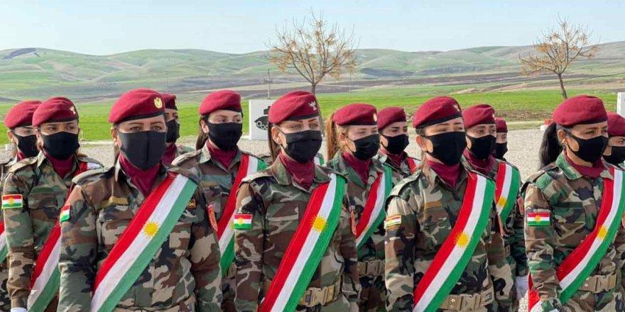 88 Ezidi kadın askeri eğitimini tamamladı