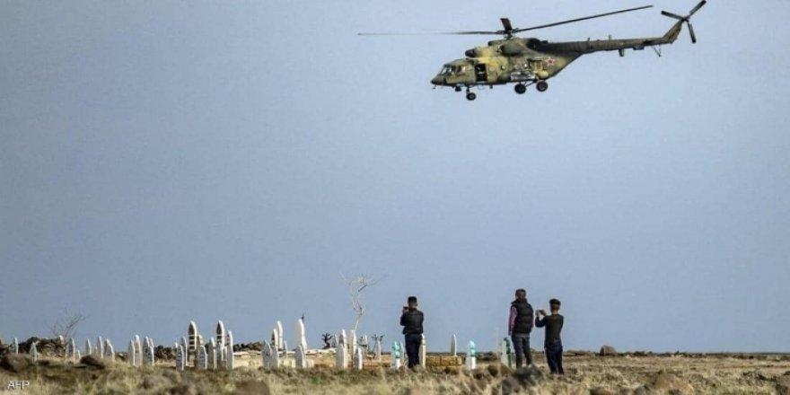 Til Temir'de Rus helikopteri düştü