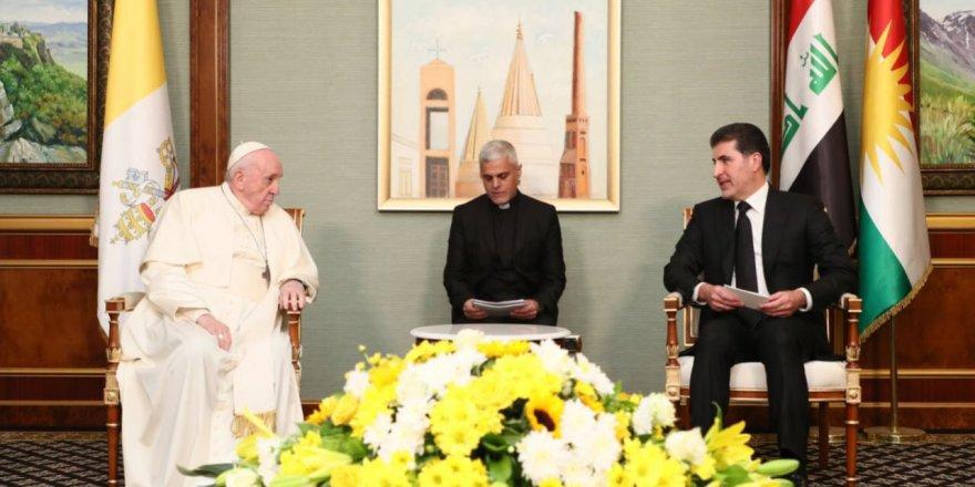 Neçirvan Barzani: Papa Francis'i Erbil'de ağırlamaktan onur duyuyorum