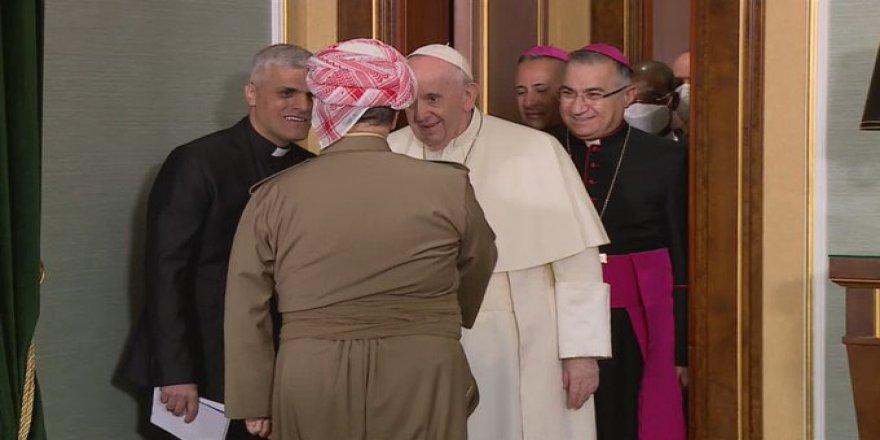 Papa Francis'den Başkan Barzani'ye: Hristiyanları koruduğunuz için teşekkür ederim