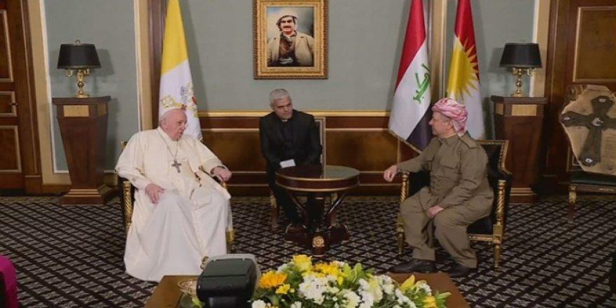 Başkan Mesud Barzani: Papa'yı Kürdistan Bölgesi'nde ağırlamaktan onur duydum