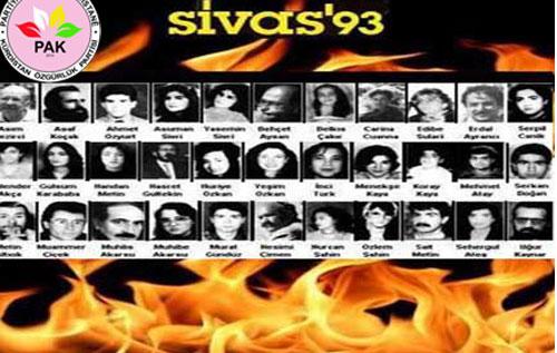 """""""Sivas katliamını gerçekleştirenler ve destekçileri hala da açığa çıkarılmadı"""""""