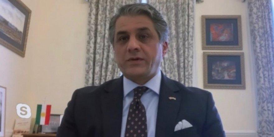 Kürdistan Bölgesi İngiltere Temsilcisi Tahir: Kürtler vefalıdır, dostlarının iyiliklerini unutmayacaklar