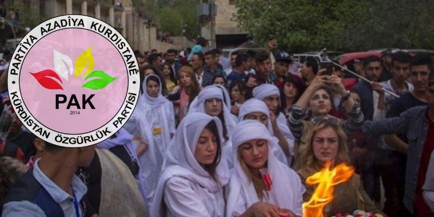 PAK: Ezidi Kürt Kardeşlerimizin Çarşema Sor Bayramı'nı Kutluyoruz