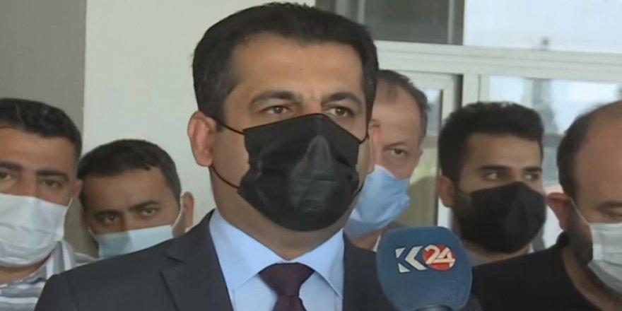 Sağlık Bakanı Berzenci'den yaralı Peşmerge'ye ziyaret