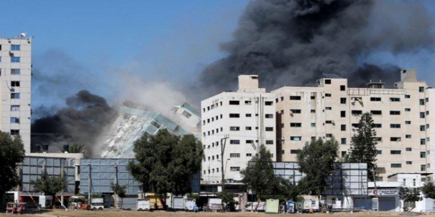 İsrail: uluslararası televizyonların bulunduğu binayı bombaladı