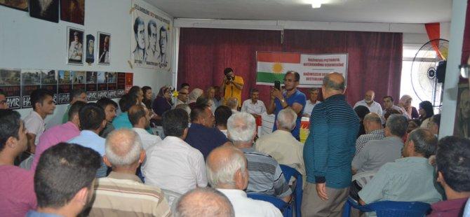 Adıyaman ve Antep'te Bağımsızlık Referandumuna güçlü destek