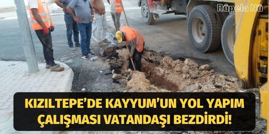 Kızıltepe'de Kayyum'un yol yapım çalışması vatandaşı bezdirdi!
