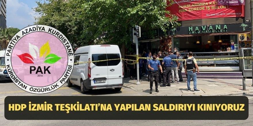 PAK: HDP İzmir Teşkilatı'na Yapılan Saldırıyı Kınıyoruz