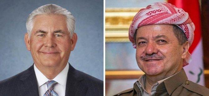 Tillerson'un Barzani'ye mektubu 'Sizinle çalışmaktan onur duyuyoruz!'
