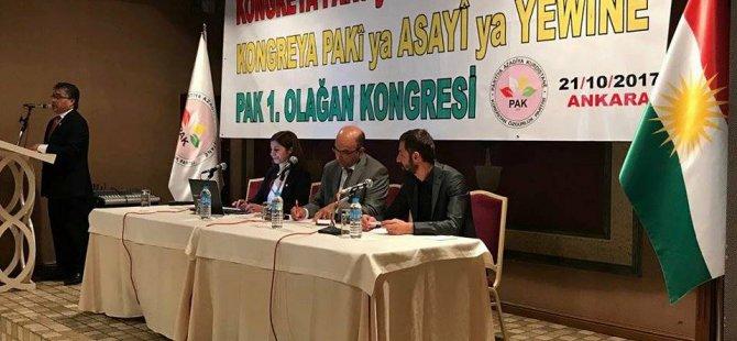 """PAK """"Güney Kürdistan'daki bağımsızlık iradesini kayıtsız, şartsız destekliyoruz"""""""