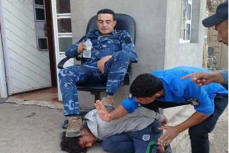 Kerkük'te Irak polisinin Kürtlere yaptığı zulmün resmi