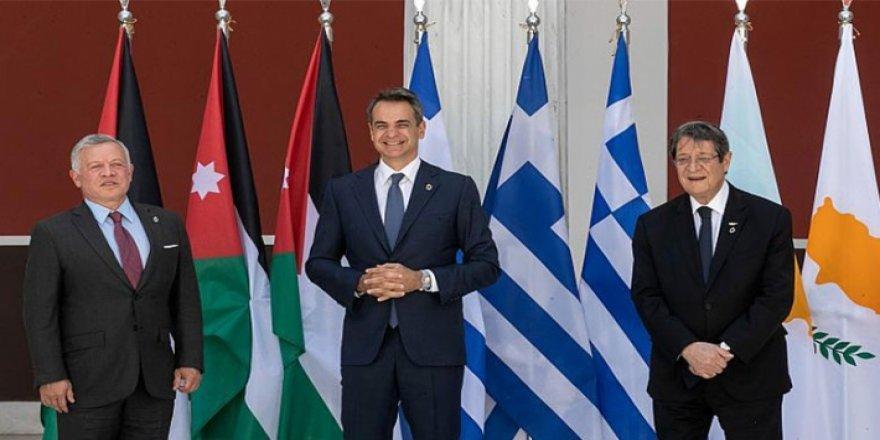 Yunanistan, Ürdün ve Kıbrıs liderinden Doğu Akdeniz ve Kıbrıs zirvesi