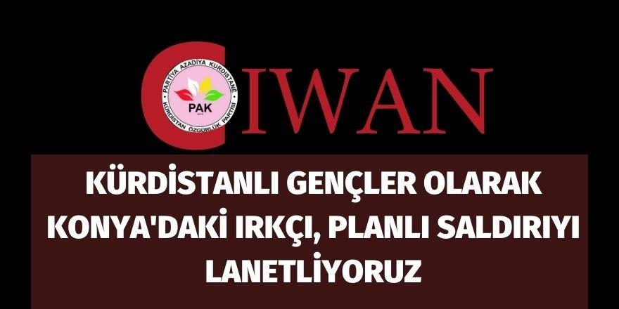 Kürdistanlı gençler olarak Konya'daki ırkçı, planlı saldırıyı lanetliyoruz