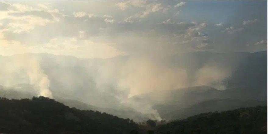 'Söndürüldü' denilen Hozat'taki orman yangını devam ediyor