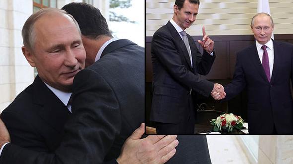 Putin ile Esad Soçi'de bir araya geldi