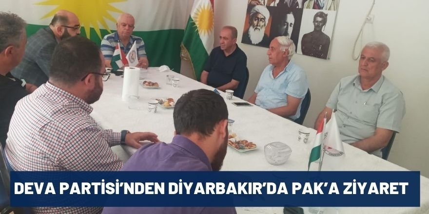 Deva Partisi'nden Diyarbakır'da PAK'a Ziyaret
