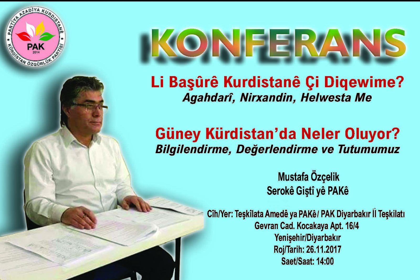 Diyarbakır'da Konferans