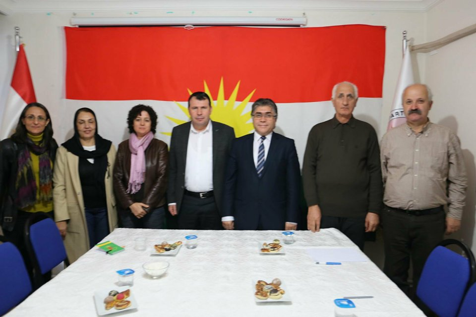 Diyarbakır'da  DBP'den  PAK'a Ziyaret