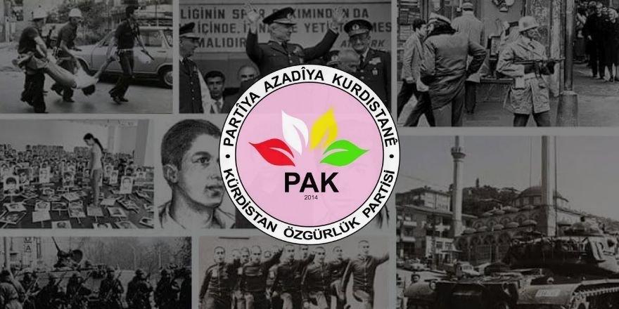 PAK: 12 Eylül Darbesi, Kürt milletine, özgürlüğe, demokrasiye, adalete düşmandı